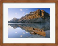Framed Canoe At The Lakeside, Bow Lake, Alberta, Canada