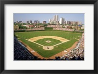Framed High Angle View Of A Stadium, Wrigley Field, Chicago, Illinois