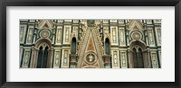 Framed Low Angle View Of Details Of A Cathedral, Duomo Santa Maria Del Fiore, Florence, Italy