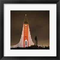 Framed Annual Winter Lights Festival, Reykjavik, Iceland
