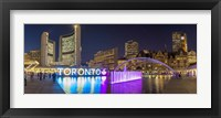 Framed Nathan Phillips Square At Night Toronto, Canada