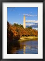 Framed Reflection Of Monument On The Water, The Washington Monument, Washington DC