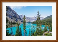 Framed Scenic Mountainous Landscape Of Banff National Park, Alberta, Canada