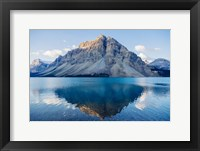 Framed Mountain Reflecting In Lake At Banff National Park, Alberta, Canada