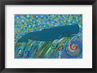 Framed Petroglyph Sperm Whale