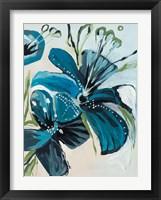 Framed Flowers of Azure I