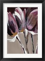 Framed Aubergine Splendor I