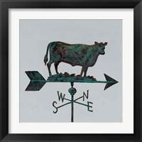 Framed Rural Relic Cow