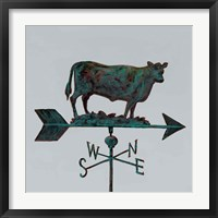 Framed Rural Relic Cow