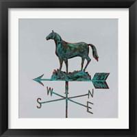 Framed Rural Relic Horse