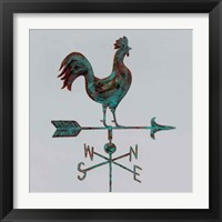 Framed Rural Relic Rooster