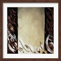 Framed Vertical Ochre