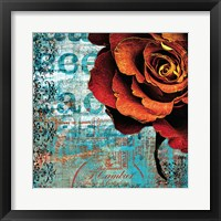 Framed Graffiti Rose