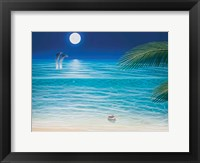 Framed Moonlit Palms
