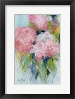 Framed Pink Hydrangeas