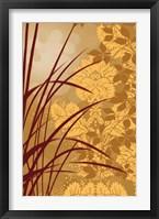 Framed Golden Flourish I