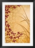 Framed Golden Flourish II