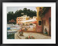 Framed Morning Stroll - Portofino