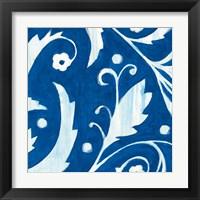 Framed Tangled In Blue I