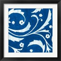 Framed Tangled In Blue II