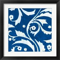 Framed Tangled In Blue IV