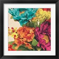 Framed Pop Art Flowers I