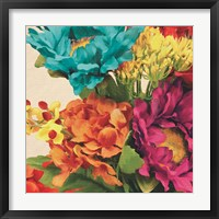 Framed Pop Art Flowers I