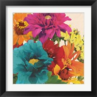 Framed Pop Art Flowers II