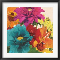 Framed Pop Art Flowers II
