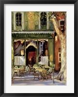 Framed Paulette's Cafe