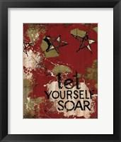 Framed Let Yourself Soar