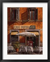 Framed Cafe Roma