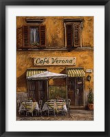 Framed Cafe Verona