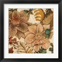 Framed Fleurs De Bois