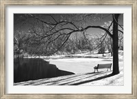 Framed Heritage Pond In Winter