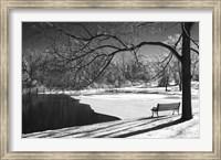 Framed Heritage Pond In Winter