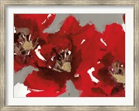 Framed Red Poppy Forest I