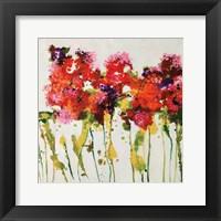 Framed Dandy Flowers I