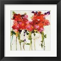 Framed Dandy Flowers II