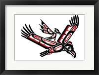 Framed Eagle And Crow