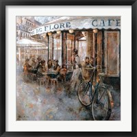Framed Cafe de Flore, Paris