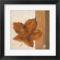 Framed Leaf Impression - Rust