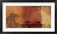 Framed Safari Sunset II