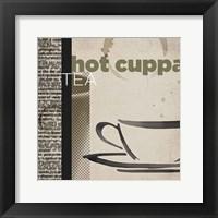 Framed Hot Cuppa Tea