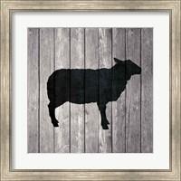 Framed Barn Sheep
