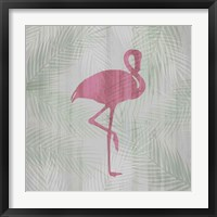 Framed Pink Flamingo I