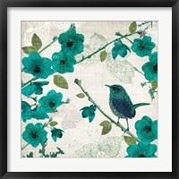 Framed Birds and Butterflies I