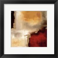 Framed Crimson Accent I