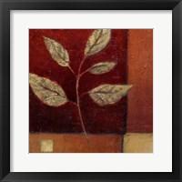 Framed Crimson Leaf Study I