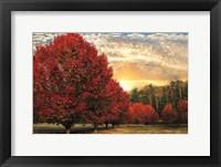 Framed Crimson Trees